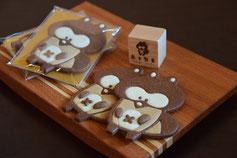 可愛いお菓子,可愛いクッキー,動物クッキー,たぬきのお菓子,かわいいお菓子,