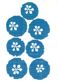 ステッカー 見本 ふわふわの花