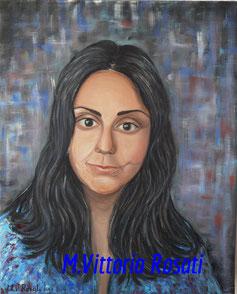 Portrait, oil on canvas, cm 40x50, 2013 - collection private