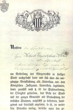 Bild: Wünschendorf Bürgerschein Robert Weber