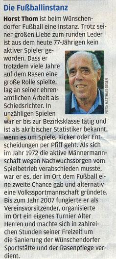 Bild: Fußball Wünschendorf Erzgebirge