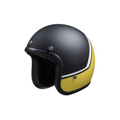 IXS Jet Helmet 77 2.2 Black-Yellow Fluo.