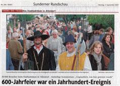 600-Jahrfeier war ein Jahundert-Ereignis - 03.09.2007