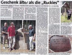"Geschenk älter als die ""Rockies"" - 07.02.2008"