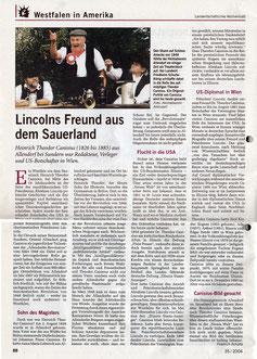 Lincolns Freund aus dem Sauerland - 26.08.2004