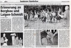 Erinnerung an Bergbau und Laigen-Schmidt - 22.07.2002