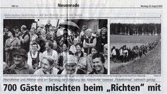 """700 Gäste mischten beim """"Richten"""" mit - 25.08.2003"""
