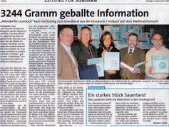 3244 Gramm geballte Information - 01.12.2006