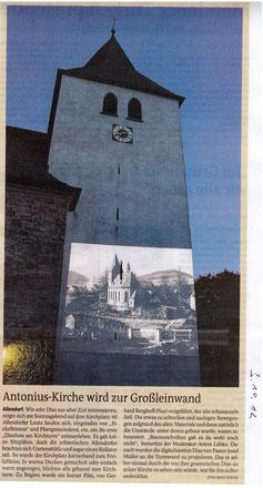 Antonius-Kirche wird zur Großleinwand - 03.10.2012