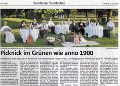 Picknick im Grünen wie anno 1900 - 18.07.2009
