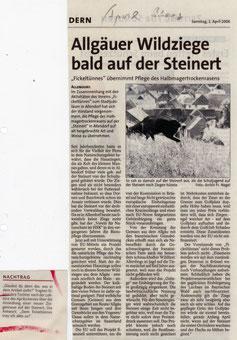 Allgäuer Wildziege bald auf der Steinert - 01.04.2006