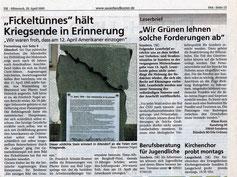 """""""Fickeltünnes"""" hält Kriegsende in Erinnerung - 20.04.2005"""
