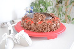biscuit croustillant praliné, mousse chocolat, insert framboise