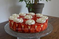 fraisier, mousse lemon curd et biscuit croustillant