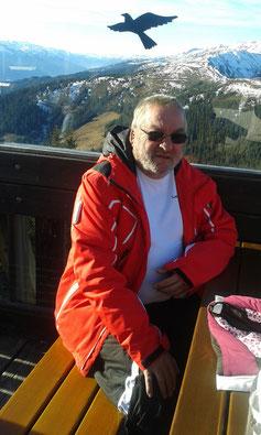 Erwin beim Schifahren