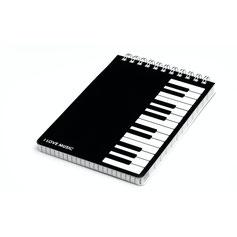 Notizbuch mit Klaviertastatur