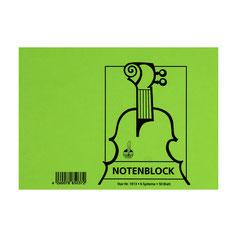 Notenblock 25 Blatt DIN A5 6 Systeme 50 Seiten