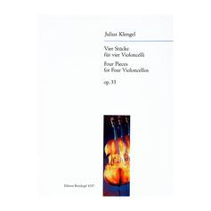 Vier Stücke für vier Violoncelli op. 33 von Julius Klengel EB4337