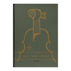 Notenbuch DIN A4 hoch 10 Systeme 48 Seiten