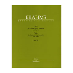 Trio für Klarinette (Viola), Violoncello und Klavier op. 114 von Johannes Brahms BA9438