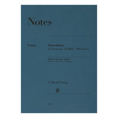 Notenblock 50 Blatt DIN A4 12 Systeme, 100 Seiten