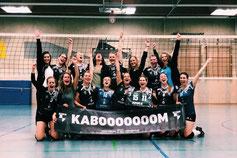 DSC-Damen-2 voller Freude nach dem Sieg im ersten Relegationsspiel