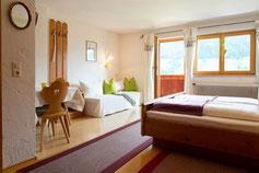 Doppelzimmer für 2-3 Personen, Südbalkon