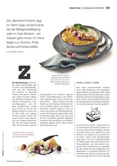 Artikel Sommer Desserts Trends 2019 Cooking Catering Inside 3/2019