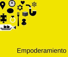 Imagen amarilla con objetos de empoderamiento