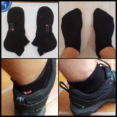 3-er Set Low-Cut Pro Laufsocken, Sportsocken, Sneakersocken, gepolstert, belüftet, atmungsaktiv