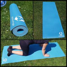Yogamatte aus natürlichen Gummi (Kautschuk) - »Rubin« 183x61x0,4cm - sehr rutschfeste Matte für Yoga : ideal für Yogalehrer & Yogastudios (Studio-Qualität)