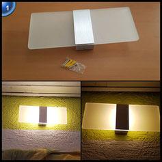 ZMH 6W LED Wandleuchten modern Wandlampe aus Acryl und Aluminium Minimalismus Design Flurlampe Badeleuchte Wandbeleuchtung (Typ 1-Warmweiss) [Energieklasse A++]