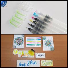 COBEE 6pcs Pinselstifte Aquarelles Pinselset Zeichnen Stifte Malset Brush Pen Set für Malen Zeichnen