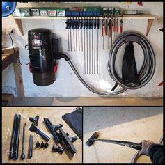 Bissell 2173N 3-in-1 Auto-Mate Garage Pro, Nass-/Trockensauger und Gebläse zur Wandmontage, für Garage oder Werkstatt