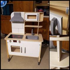 Eichhorn 100002494 - Eichhorn - Spielküche, 36x69x99,5cm, Holzküche