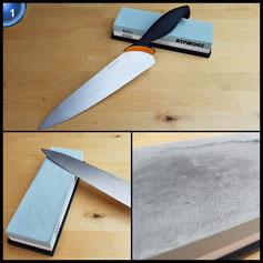 ATPWONZ Wetzstein Schleifstein Abziehstein für Messer Körnung 1000/4000 mit rutschfestem Halter