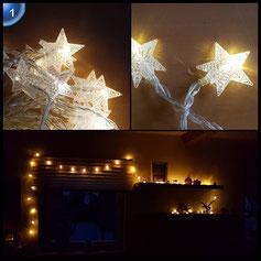 Parsion 40 LEDs Sterne Lichterkette, 6M 40er Wasserdicht LED Kupferdraht Lichterketten mit Fernbedienung, Warmweiß Weihnachtsbeleuchtung für Ihnen/ Schlafzimmer/ Party/ Weihnachten/ Weihnachtsbaum/ Hochzeit (warmweiß)