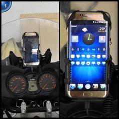 Bukm Fahrrad Handyhalterung, Universal Fahrradhalterung Smartphone Handyhalter Lenker Halterung für Smartphone und GPS-Gerät
