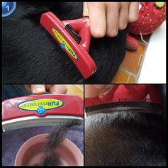 FURminator FURflex, Fellpflegebürste für große Hunde, deShedding-Tool zur Entfernung der Unterwolle, Größe L