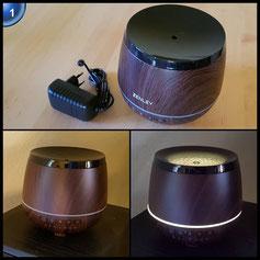 ZENLEY Aroma Diffuser I Ultraschall Luftbefeuchter mit Bluetooth Lautsprecher I Verdampfer für Aromatherapie mit Licht