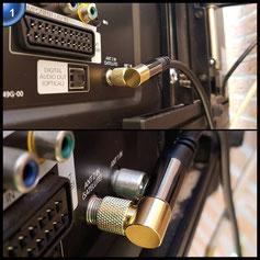 KabelDirekt 1m 75 Ohm HDTV SAT Kabel 90° gewinkelt F-Stecker > F-Stecker Koaxialkabel für TV, HDTV, Radio, DVB-T2, DVB-C, DVB-S – PRO Series