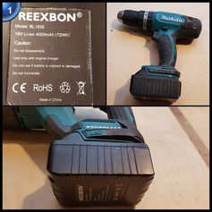 Rexxbon 18V 4.0Ah Li-ion Werkzeug Akku Ersatz für Typ Makita BL1840