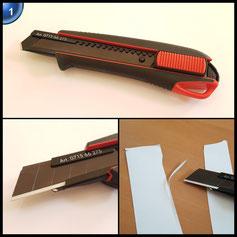 Würth 2K Cuttermesser inkl. 3 Abbrechklingen 18mm Abbrechklinge Teppichmesser Universalmesser mit extra scharfen Stahlklingen und klingen Halter Bayram®