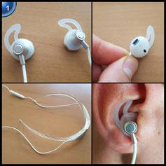 LinkWitz Bluetooth Kopfhörer 4.1 Drahtlose Sport Stereo In-Ear Noise Cancelling Nackenbügel Extra Bass CVC 6.0 Magnetische Headset - weiß