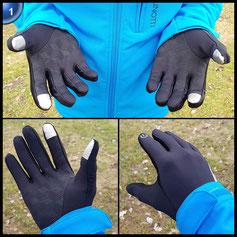 Touchscreen-Handschuhe, HiCool Touch Gloves Smartphone Handschuhe für Radfahren, Motorradfahren, Wandern und andere Outdoor-Aktivitäten