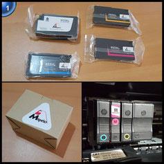 Mipelo Wiederaufbereitet Ersatz für 953 953XL Hohe Kapazität Druckerpatrone - 4 Pack Gilt für HP Officejet Pro 8710