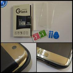 Soyion für Galaxy S7 edge Panzerglas Schutzfolie, Displayschutzfolie Panzerfolie Displayschutz Gehärtetem Glass 9H Härtegrad, Anti-Kratzen