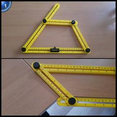 ATPWONZ Vorlage Werkzeug Messgerät Mehrwinkel Lineal Vorlage Maßnahmen alle Winkel und Formen für Heimwerker, Builders, Handwerker inkl. Messschieber