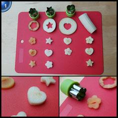 9 Stück Backen Kuchen Cutter, Gemüse Cutter Cheese Cutter aus Edelstahl-Modell