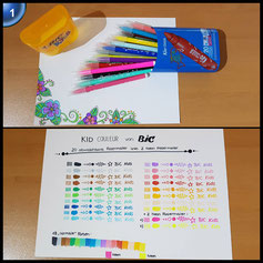 BIC Kids Fasermaler Kid Couleur / Filzstifte in praktischer Stiftebox zum Mitnehmen / 1 x 20 Stifte in leuchtenden Farben